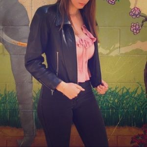 Jackets & Blazers - Cropped faux leather jacket